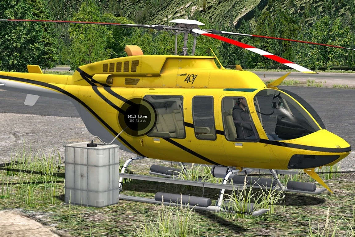 X Plane 11 Helicopter : Bell xp