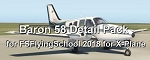 Baron 58 Detail Pack add-on for FSFlyingSchool 2018