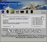 Navigator Pack add-on for FSFlyingSchool 2017 for X-Plane 11 and 10