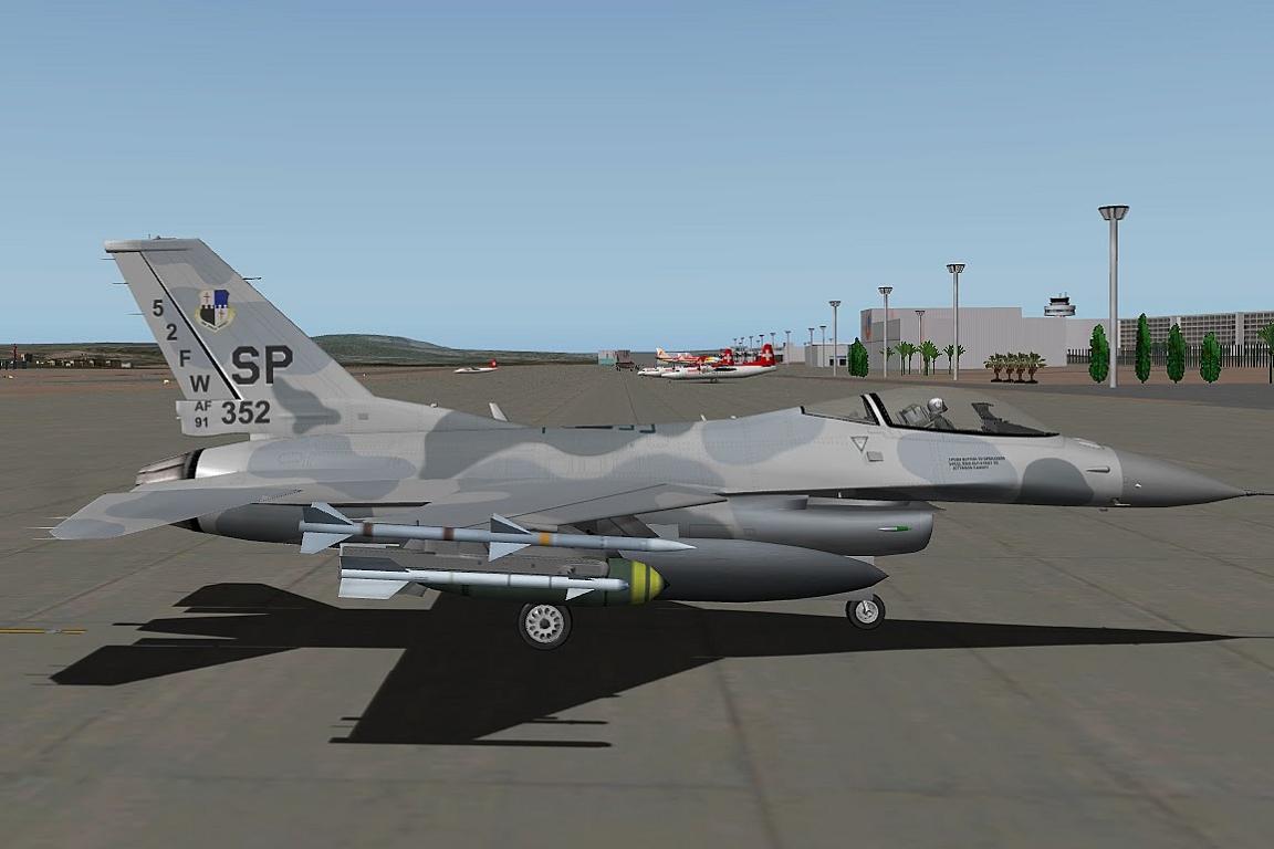Frameless Photo F16 C Fighting Falcon V10