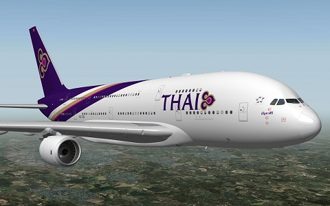 Airbus A380 Thai Airways XP10