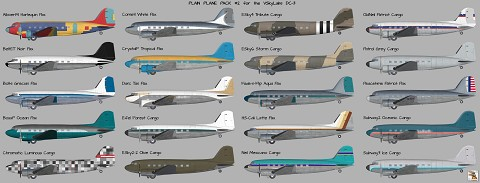 Plain Plane Pack #2 for VSkyLabs DC-3