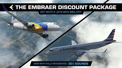 Embraer E175 and E195 v2 package by X-Crafts