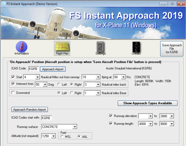 FS Instant Approach 2019 for X-Plane 11 (Windows)