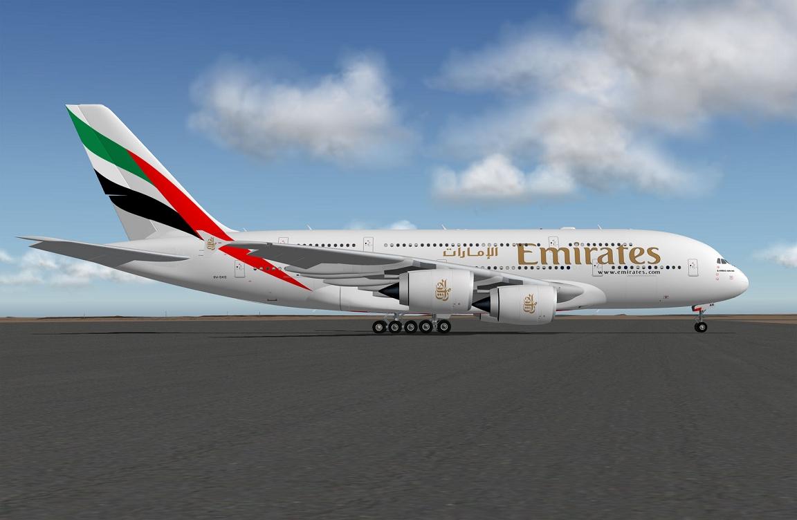 Airbus A380 Emirates XP11
