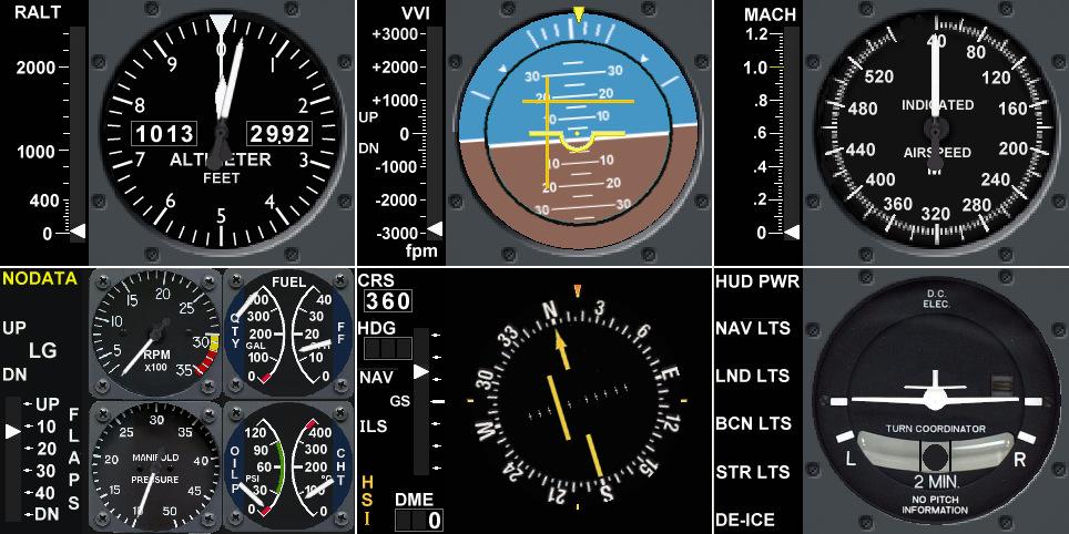 Logitech / Saitek Flight Instrument Panel Support Addon