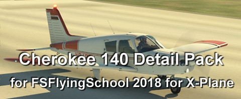 Cherokee 140 Detail Pack add-on for FSFlyingSchool 2018