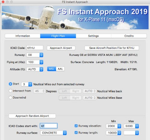 FS Instant Approach 2019 for X-Plane 11 (Mac)