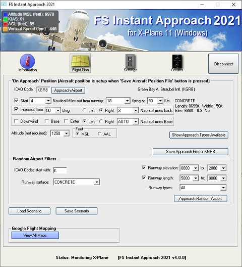 FS Instant Approach 2021 for X-Plane 11 (Windows)