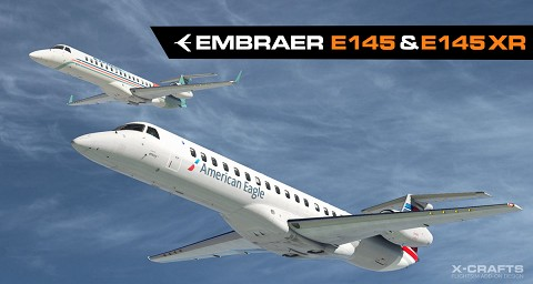 Embraer E145 & E145XR by X-Crafts